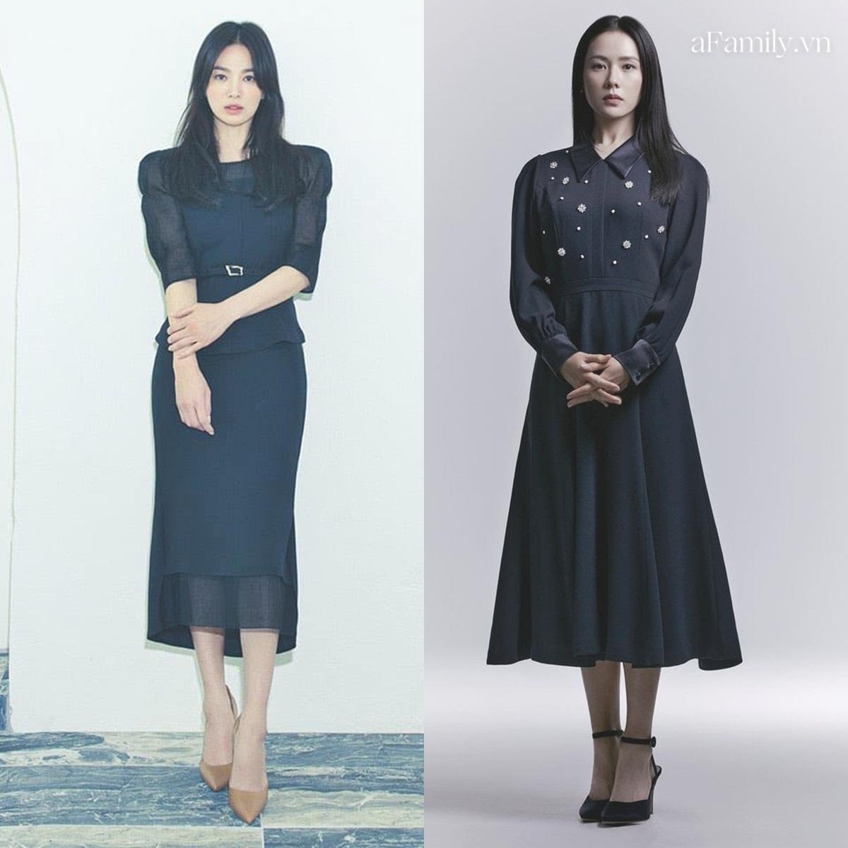 Song Hye Kyo Son Ye Jin làm mẫu đồ công sở Thu Đông - Ảnh 7.