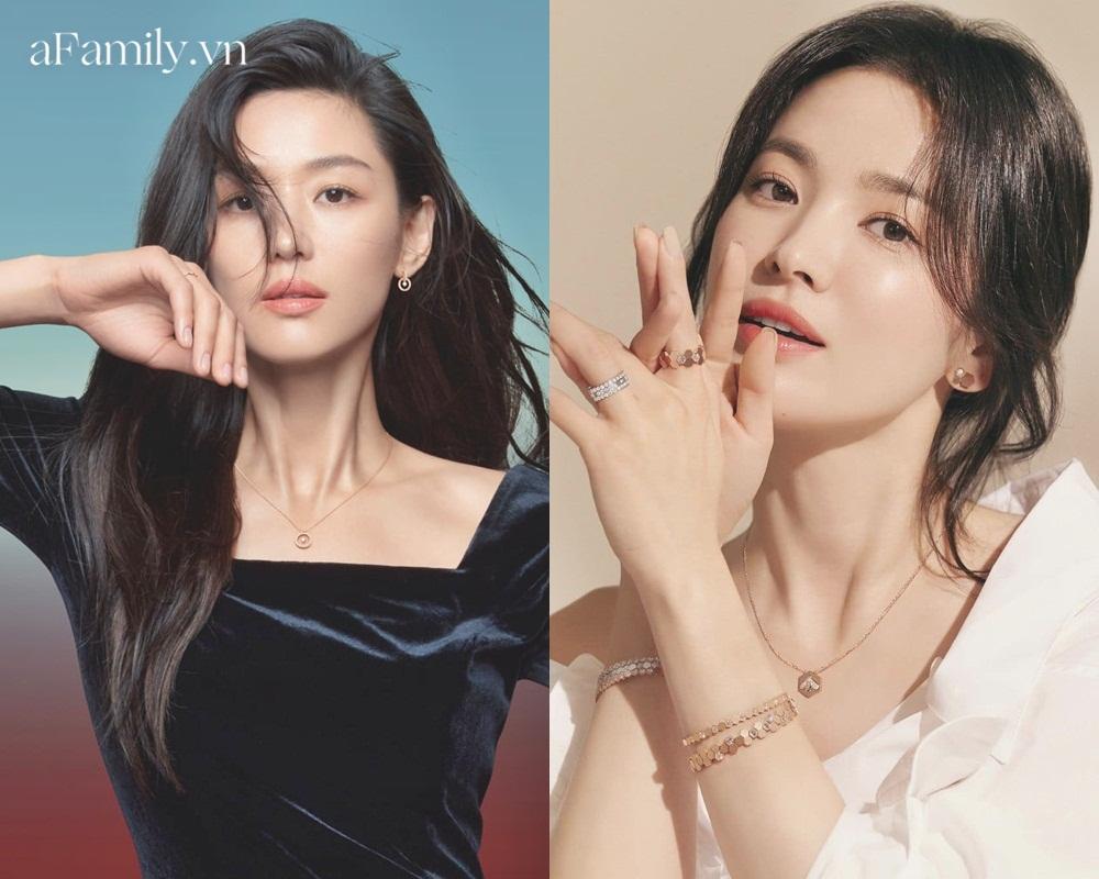 So kè Song Hye Kyo Jeon Ji Hyun khi quảng cáo trang sức: Đẹp đến mê mẩn nhưng ai sang chảnh hơn? - Ảnh 1.