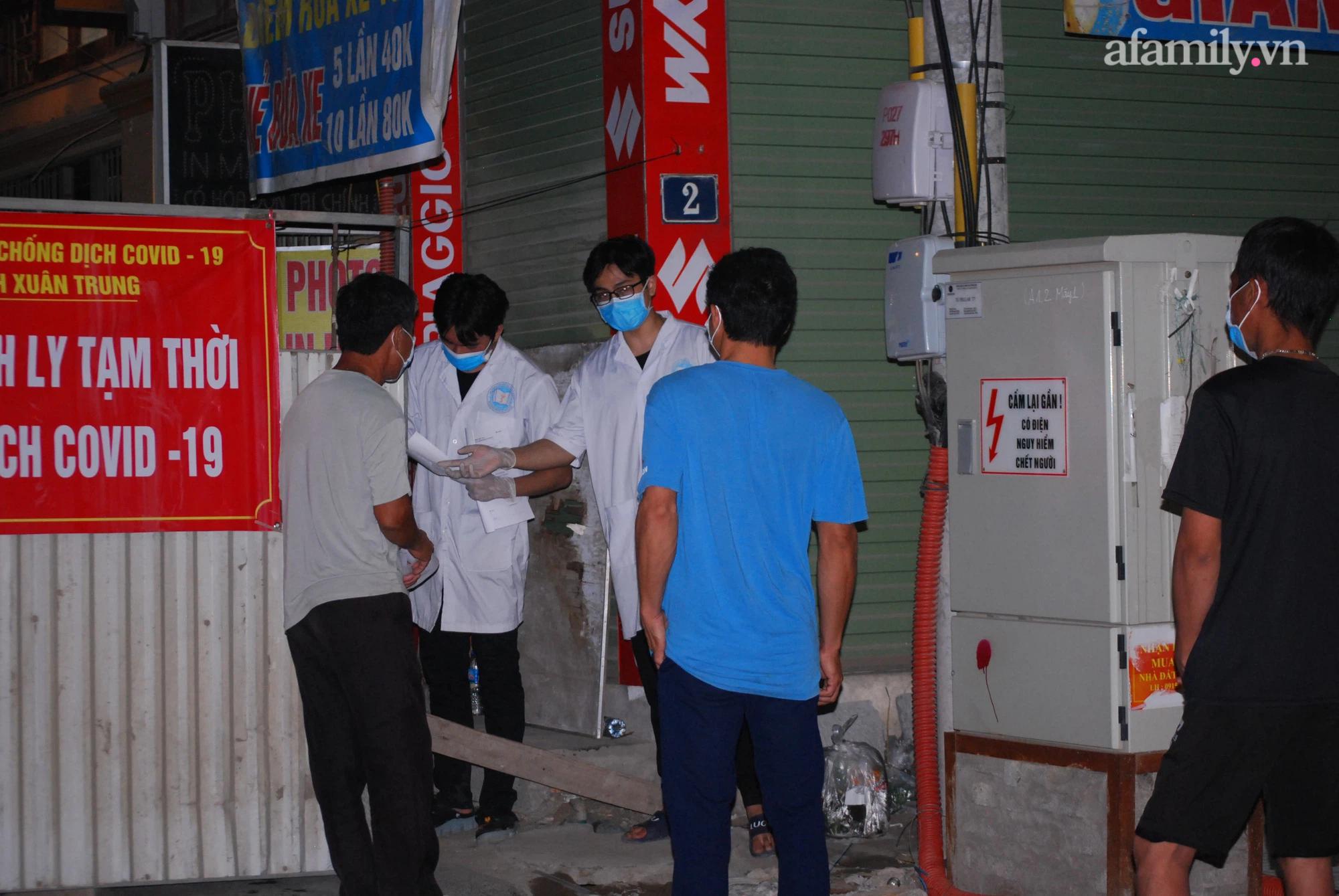 Một trong những điểm ghi nhận ca mắc Covid-19 tại quận Thanh Xuân