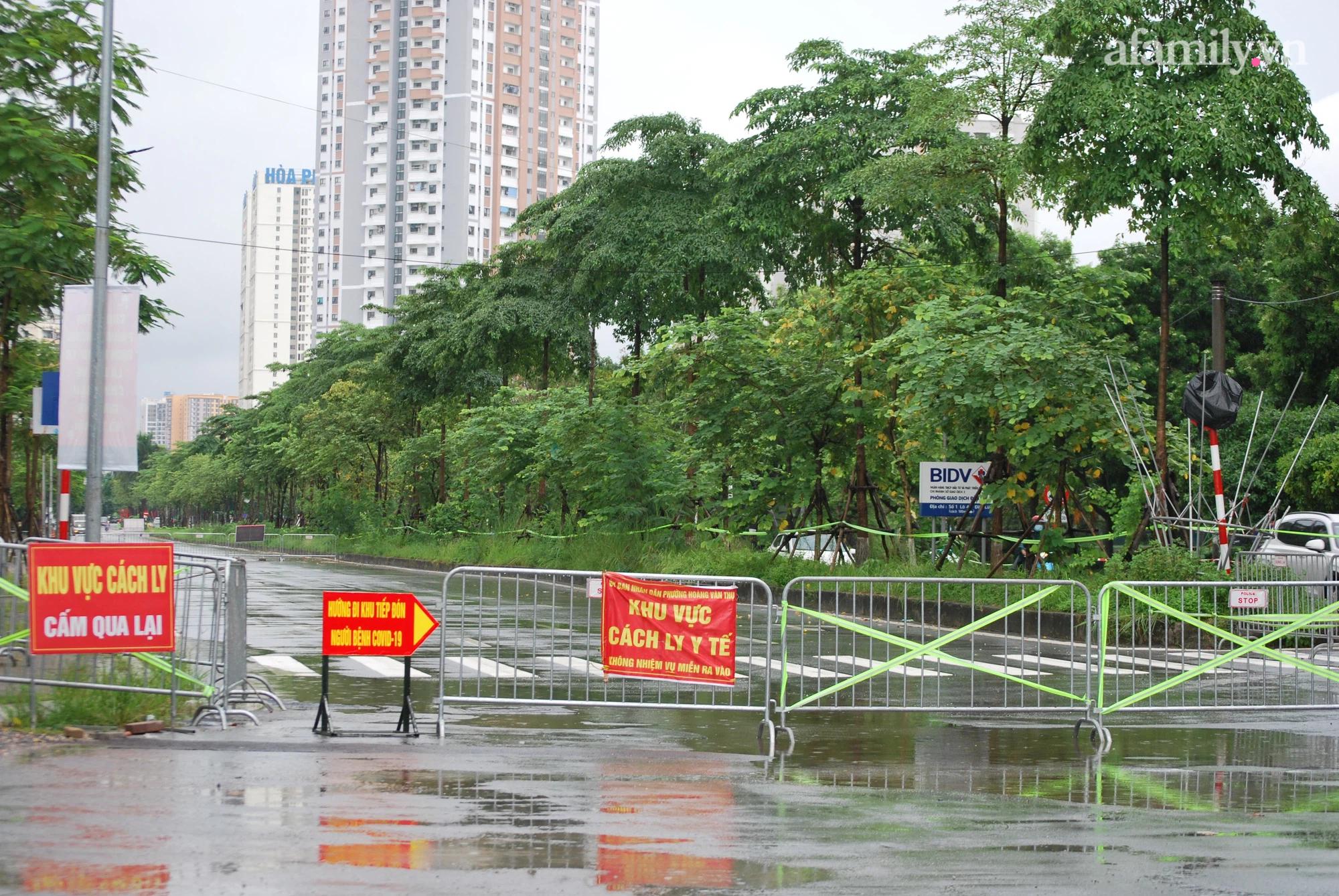 Khu cách ly tập trung tại quận Hoàng Mai