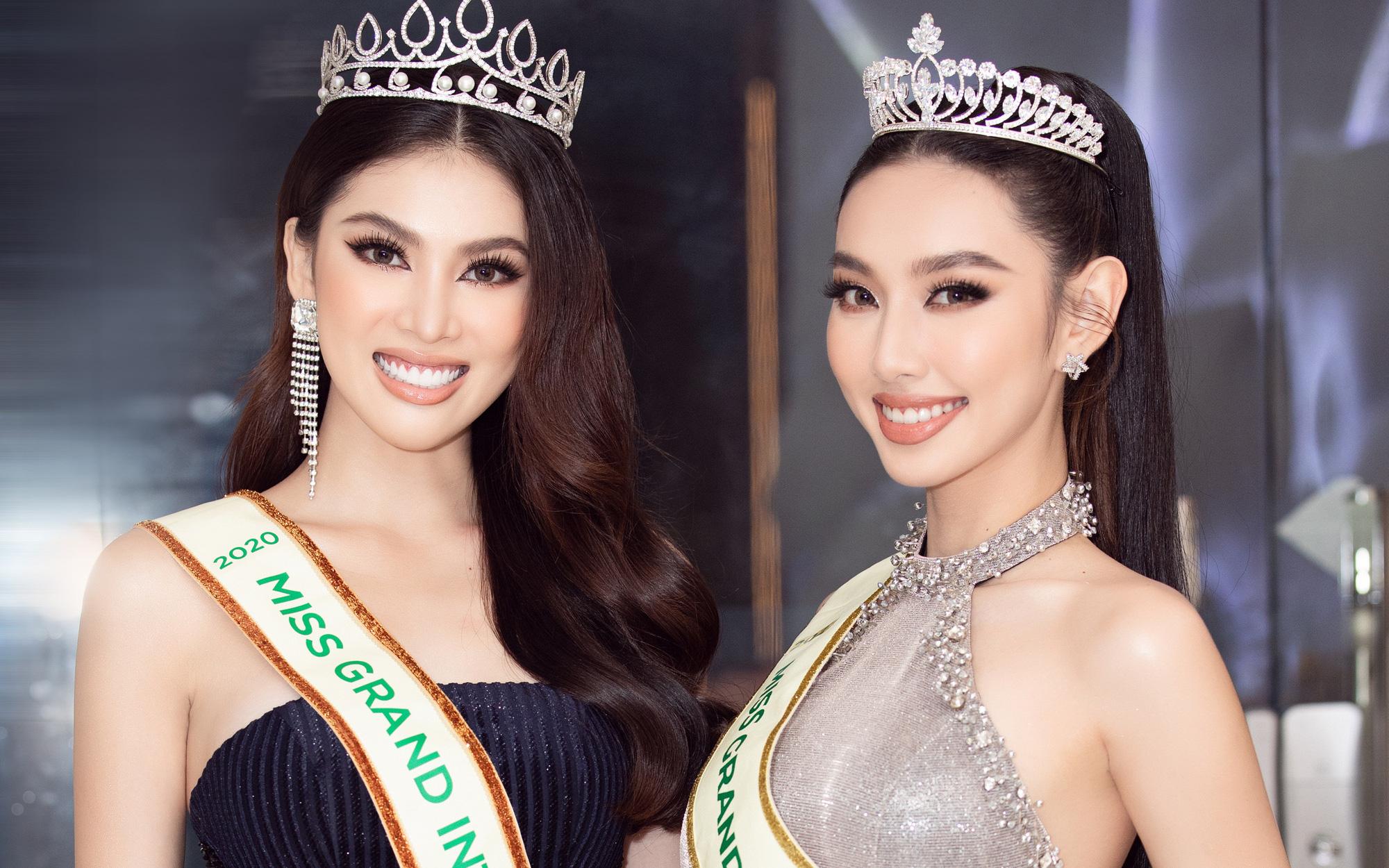 """Màn đọ body """"cực nóng"""" của hai nàng Hậu đại diện Việt Nam tại Miss Grand International"""