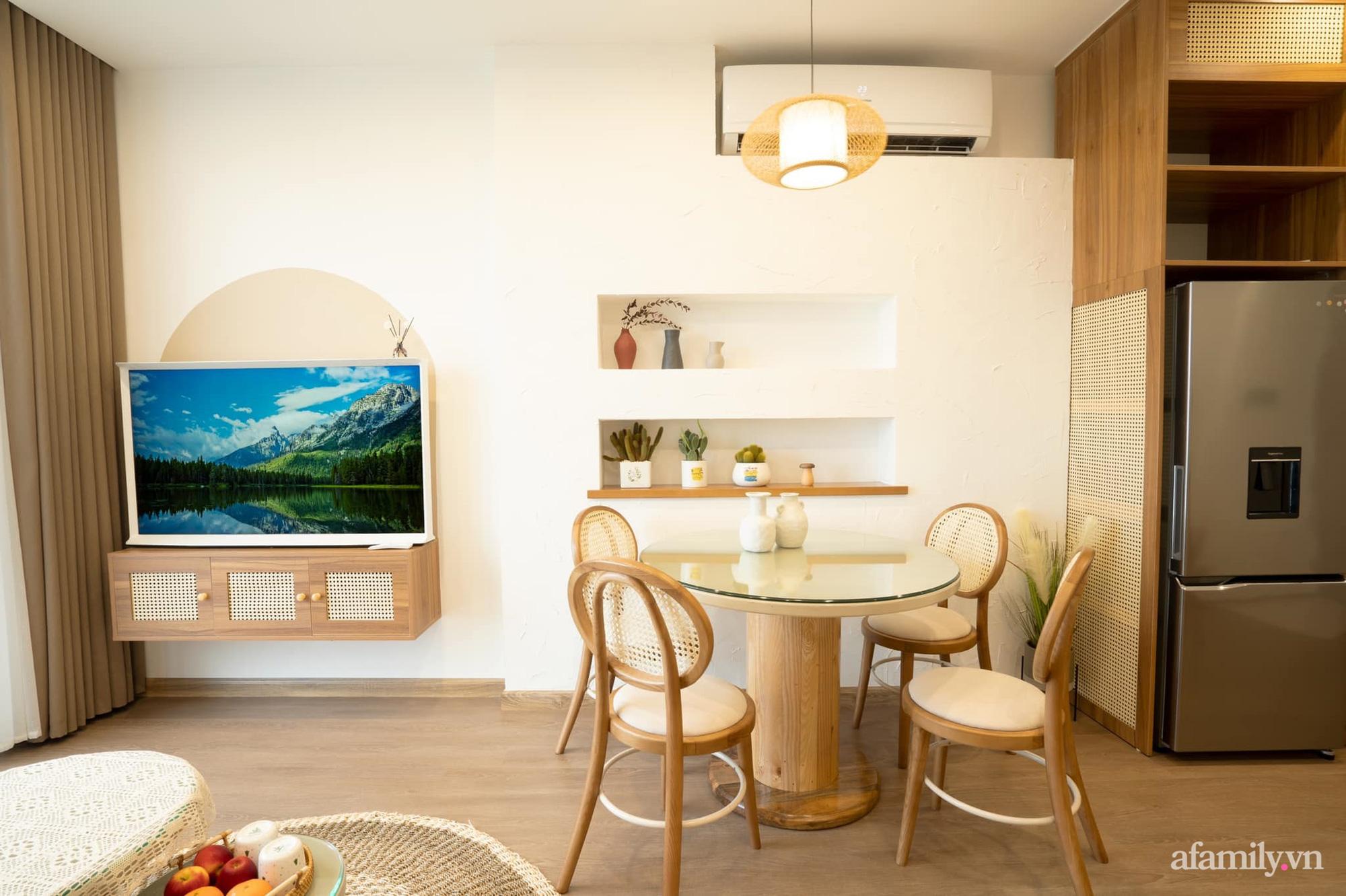 Căn hộ 54m² với nội thất tối giản theo tone vàng nâu đẹp đến từng centimet của cô nàng độc thân tại Hà Nội - Ảnh 6.