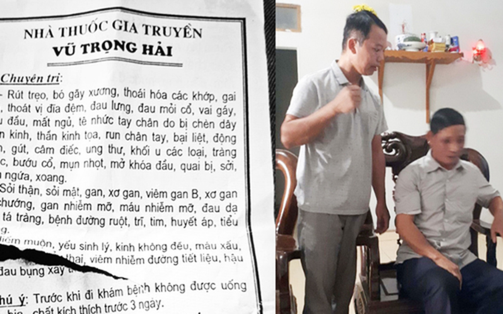"""Thầy lang ở Bắc Giang chữa hiếm muộn bằng cách """"quan hệ"""" với người bệnh mới chỉ học hết lớp 7, không có bằng cấp chuyên môn"""