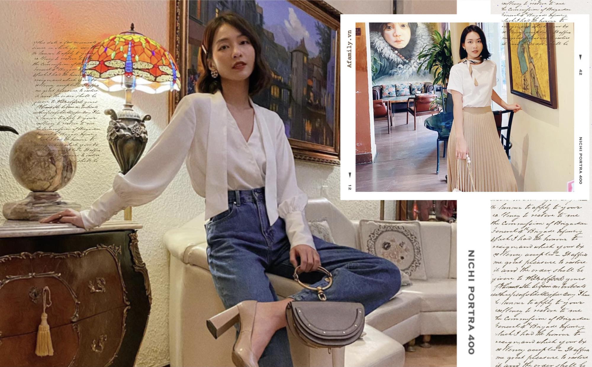 Khả Ngân trong 11 Tháng 5 Ngày có loạt cách diện áo trắng vừa đẹp vừa sang để nàng công sở copy theo - Ảnh 1.
