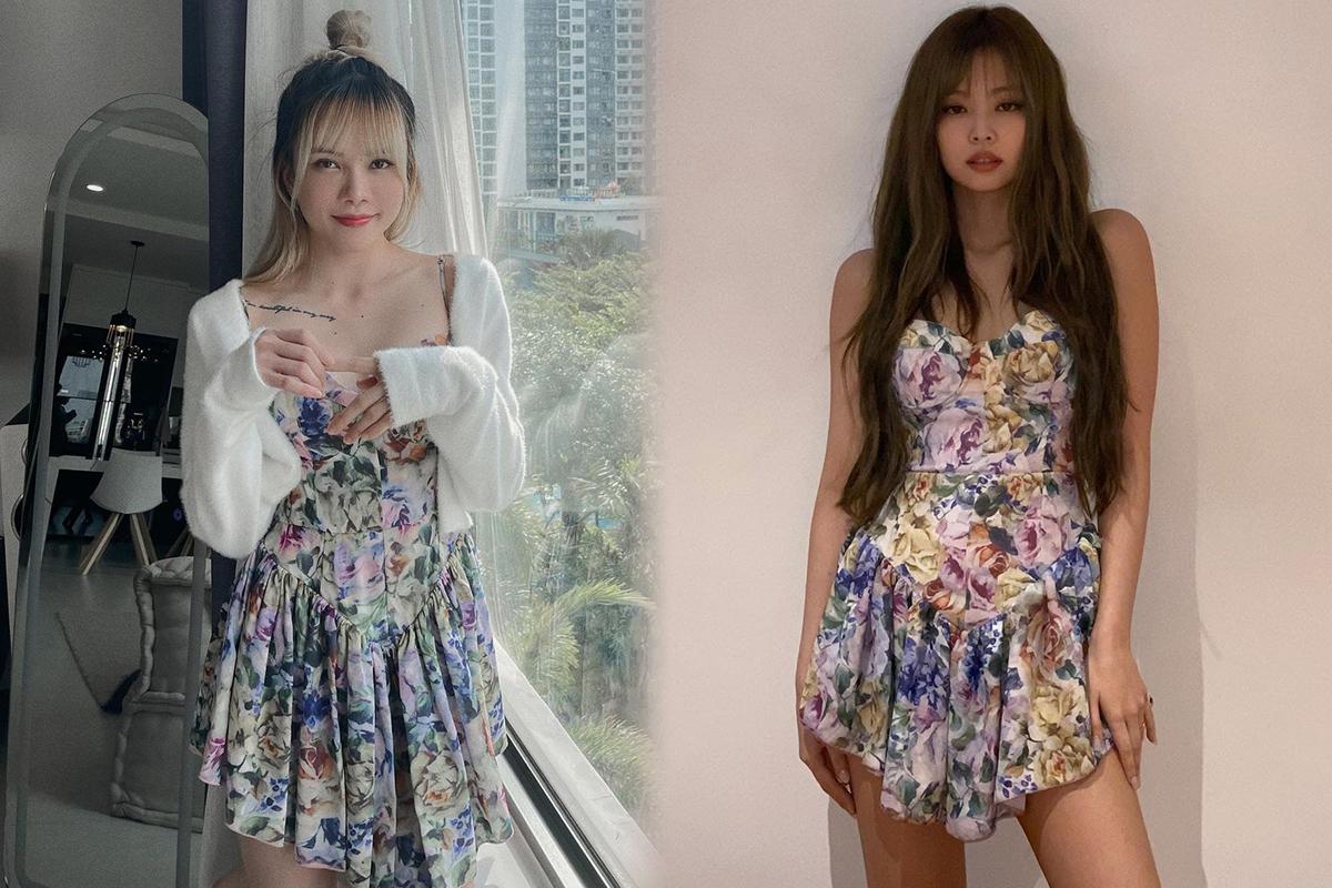 """Thiều Bảo Trâm Jennie Váy Jennie mặc từng bị chê xấu thảm họa nay Thiều Bảo Trâm cosplay lại nhưng """"lệch sóng"""" toàn tập - Ảnh 7."""