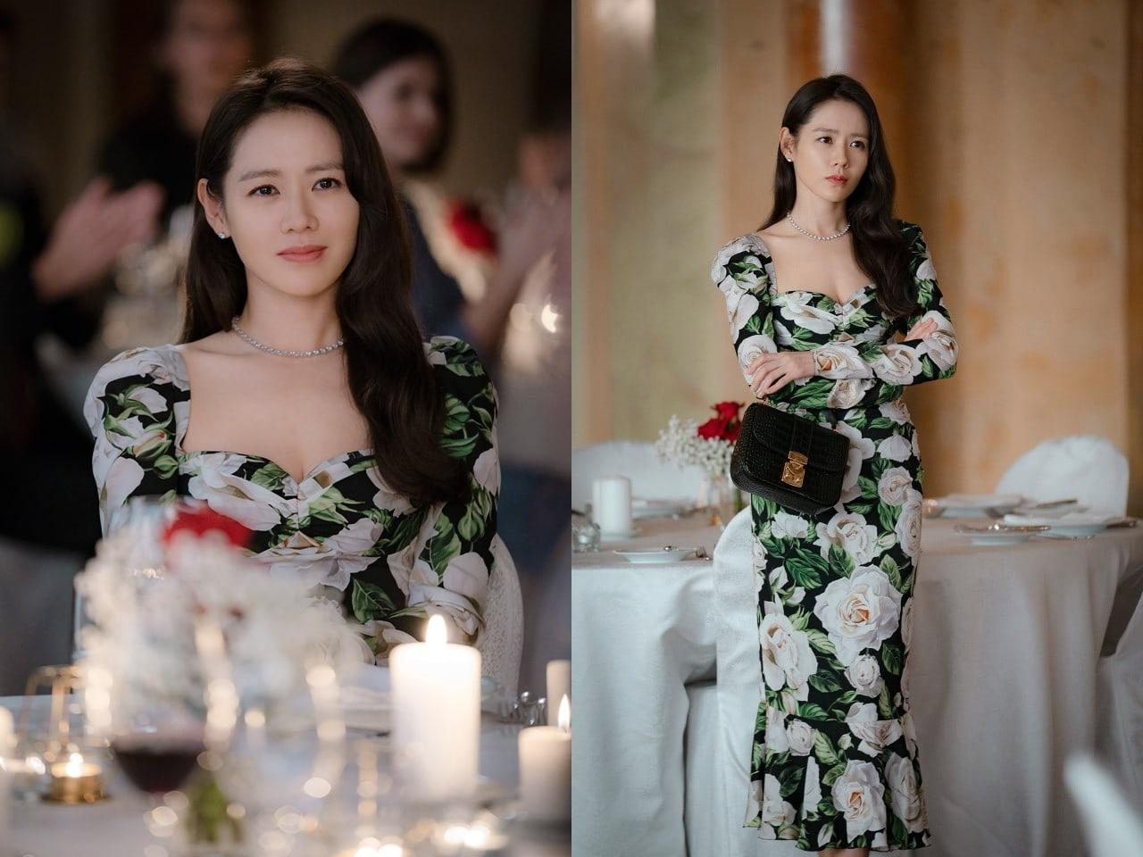 Mẹ Kim siêu vòng 3 đụng hàng chị đẹp Son Ye Jin và IU: Đố biết ai là người phá nát dáng chiếc váy này! - Ảnh 4.