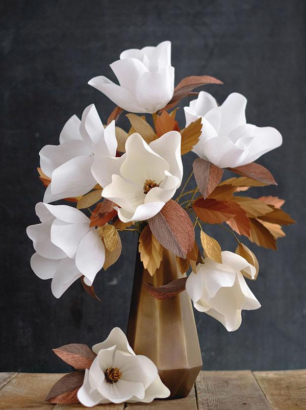 3 cách làm hoa giấy sắc trắng tinh khôi trang trí nhà đẹp tinh tế - Ảnh 8.