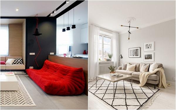Những mẫu phòng khách đẹp phù hợp với các căn hộ 50m² - Ảnh 1.