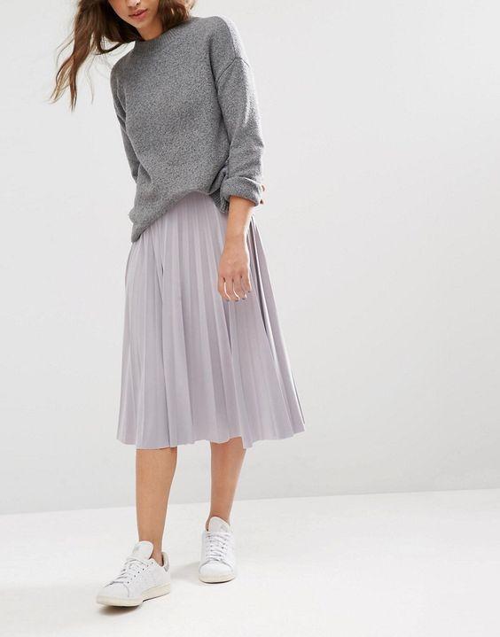 Gợi ý mix đồ đẹp đủ mọi đường với 5 thiết kế chân váy midi quen thuộc - Ảnh 3.