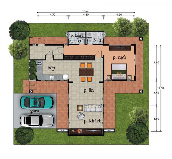 Chẳng cần cao tầng, 9 ngôi nhà 1 tầng này cũng đủ khiến bạn hài lòng về cả thiết kế lẫn công năng - Ảnh 12.