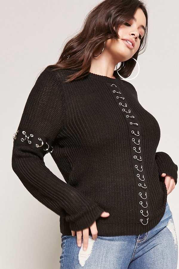 Gợi ý 13 mẫu áo dài tay mùa Thu/Đông tới dành riêng cho những nàng ngoại cỡ - Ảnh 9.