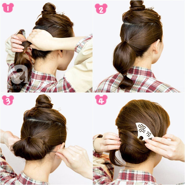 """Búi tóc sao cho khéo: Mách nước ngay 5 kiểu """"xiêu lòng chàng"""" từ nghệ nhân trang điểm tóc Nhật Bản hàng đầu - Ảnh 2."""