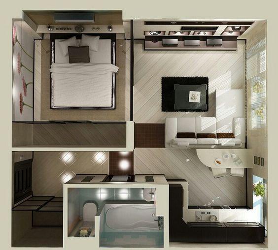 14 mẫu căn hộ một phòng ngủ không thể lý tưởng hơn cho người độc thân và vợ chồng trẻ - Ảnh 4.