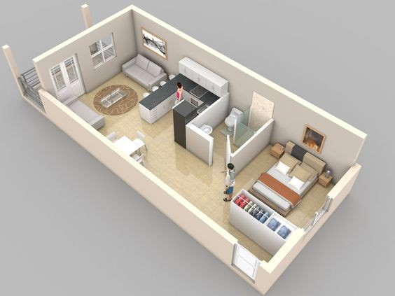 14 mẫu căn hộ một phòng ngủ không thể lý tưởng hơn cho người độc thân và vợ chồng trẻ - Ảnh 7.
