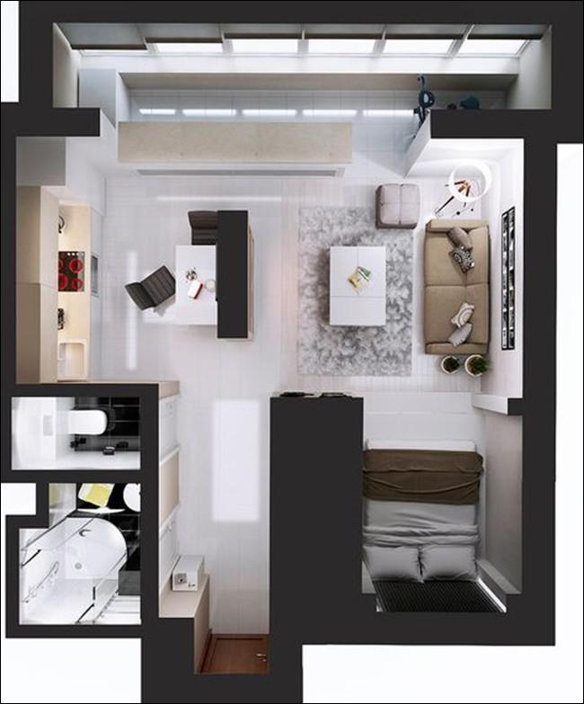 14 mẫu căn hộ một phòng ngủ không thể lý tưởng hơn cho người độc thân và vợ chồng trẻ - Ảnh 10.