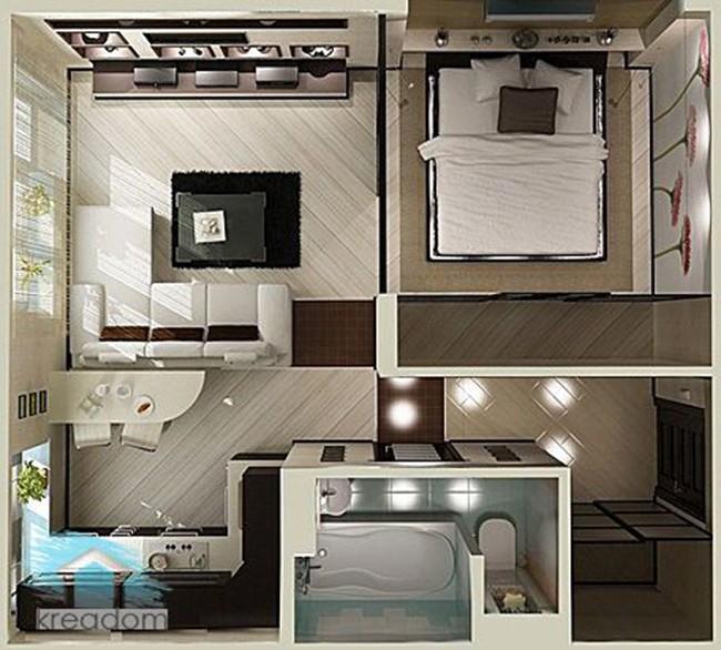14 mẫu căn hộ một phòng ngủ không thể lý tưởng hơn cho người độc thân và vợ chồng trẻ - Ảnh 15.