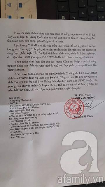 Lai Châu: 6 người chết, 11 người nguy kịch nghi bị ngộ độc thực phẩm khi ăn cỗ - Ảnh 2.