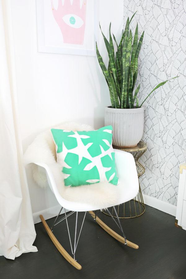 Tự may gối họa tiết lá lạ đẹp trang trí phòng khách - Ảnh 8.