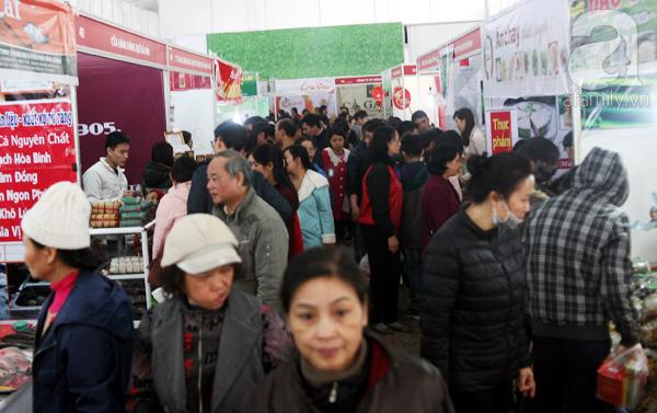 Tranh thủ trời nắng ráo, người Hà Nội đổ đến hội chợ Xuân mua đồ Tết - Ảnh 2.