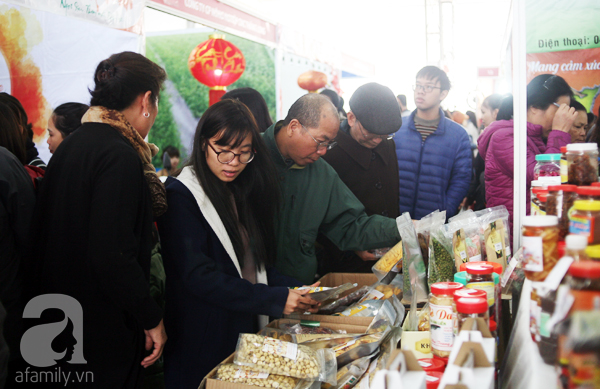 Tranh thủ trời nắng ráo, người Hà Nội đổ đến hội chợ Xuân mua đồ Tết - Ảnh 16.