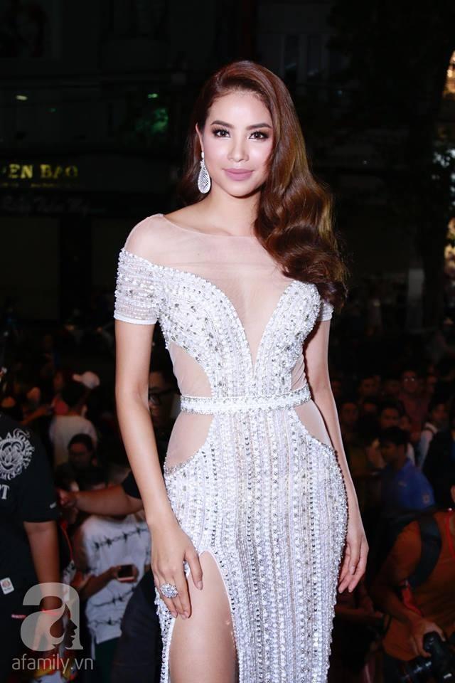Võ Hoàng Yến mặc váy in chân dung chính mình trên thảm đỏ Next Top Model - Ảnh 8.
