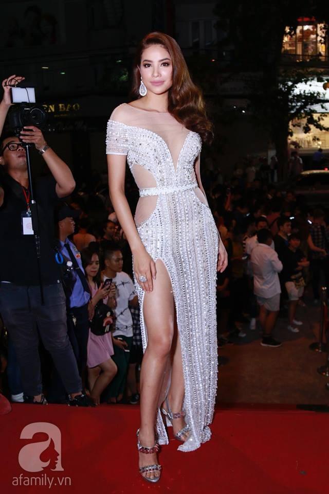 Võ Hoàng Yến mặc váy in chân dung chính mình trên thảm đỏ Next Top Model - Ảnh 9.