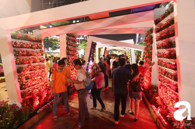 Hàng nghìn người tham quan đường hoa Nguyễn Huệ dù trời đổ mưa - Ảnh 11.