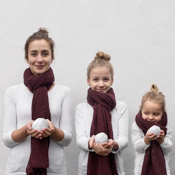 Có hai cô con gái, nhất định phải chụp ảnh bộ ba như thế này! - Ảnh 3.