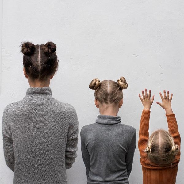 Có hai cô con gái, nhất định phải chụp ảnh bộ ba như thế này! - Ảnh 4.