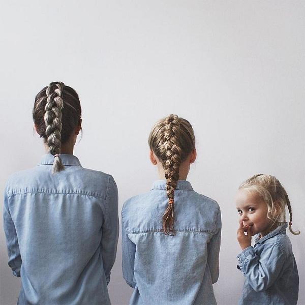 Có hai cô con gái, nhất định phải chụp ảnh bộ ba như thế này! - Ảnh 12.