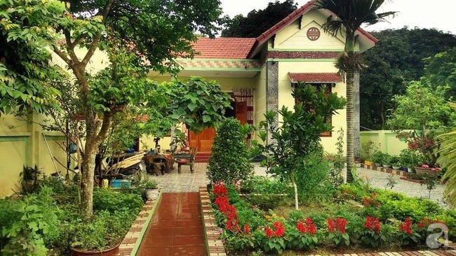 Khu vườn rộng gần nghìn m² đầy hoa và rau xanh của cô giáo dạy toán - Ảnh 2.