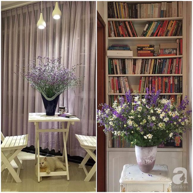 Ghé thăm căn hộ đẹp bình yên, trong trẻo đến lạ thường của người phụ nữ yêu hoa ở TP HCM - Ảnh 2.