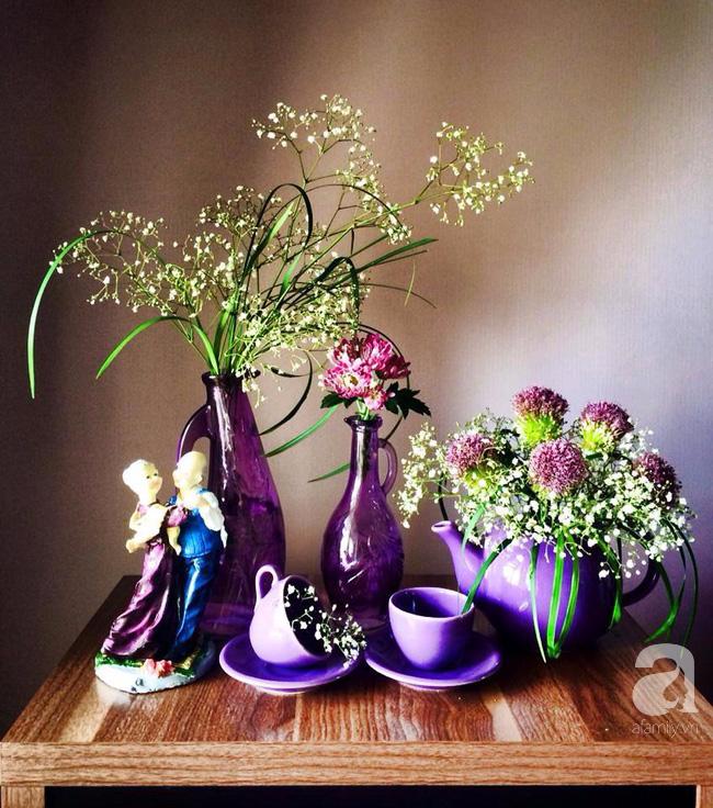 Ghé thăm căn hộ đẹp bình yên, trong trẻo đến lạ thường của người phụ nữ yêu hoa ở TP HCM - Ảnh 5.