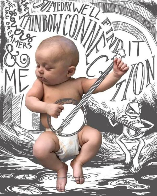 Bộ ảnh chụp con trai không đụng hàng của bà mẹ siêu sáng tạo - Ảnh 8.