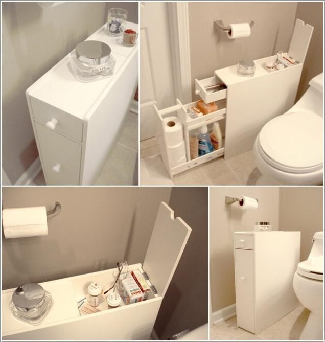 Phòng tắm nhỏ đến mấy cũng vẫn gọn gàng nhờ mẹo lưu trữ thông minh này - Ảnh 1.