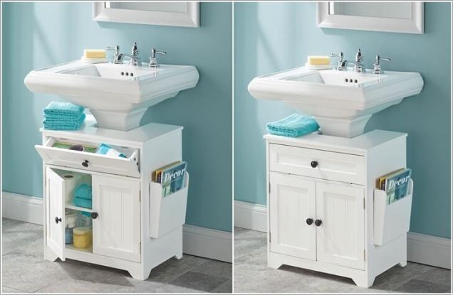 Phòng tắm nhỏ đến mấy cũng vẫn gọn gàng nhờ mẹo lưu trữ thông minh này - Ảnh 4.