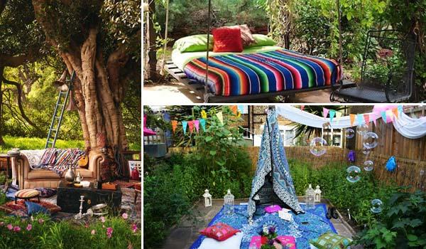 Góc sân vườn đón thu đẹp dịu dàng và lãng mạn khi được trang trí theo phong cách Bohemian - Ảnh 1.