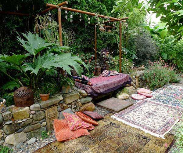 Góc sân vườn đón thu đẹp dịu dàng và lãng mạn khi được trang trí theo phong cách Bohemian - Ảnh 3.