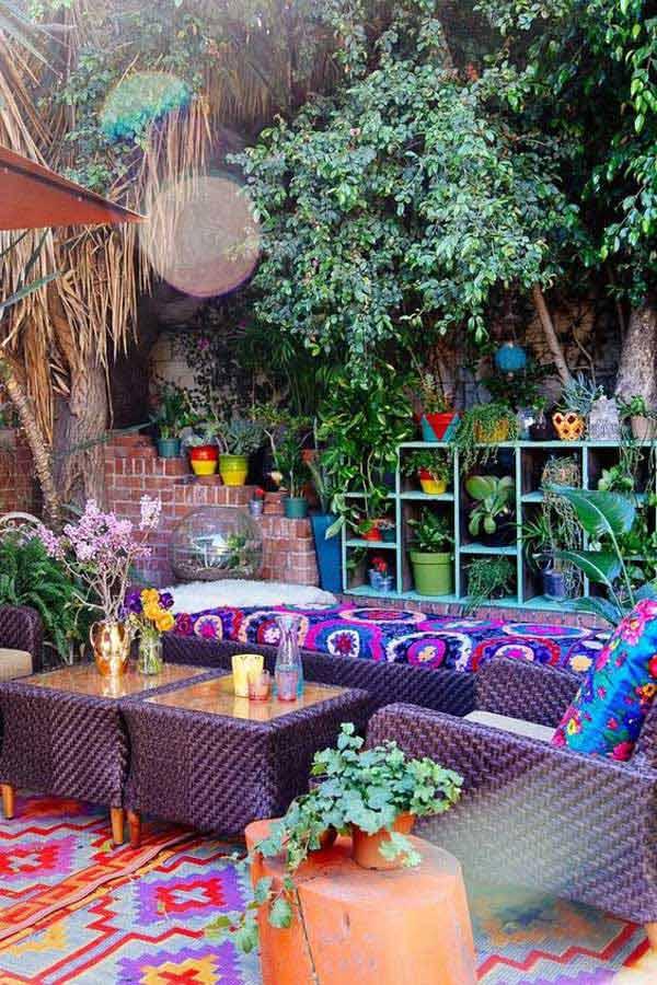 Góc sân vườn đón thu đẹp dịu dàng và lãng mạn khi được trang trí theo phong cách Bohemian - Ảnh 4.