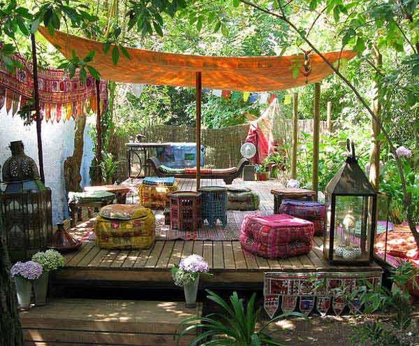 Góc sân vườn đón thu đẹp dịu dàng và lãng mạn khi được trang trí theo phong cách Bohemian - Ảnh 7.