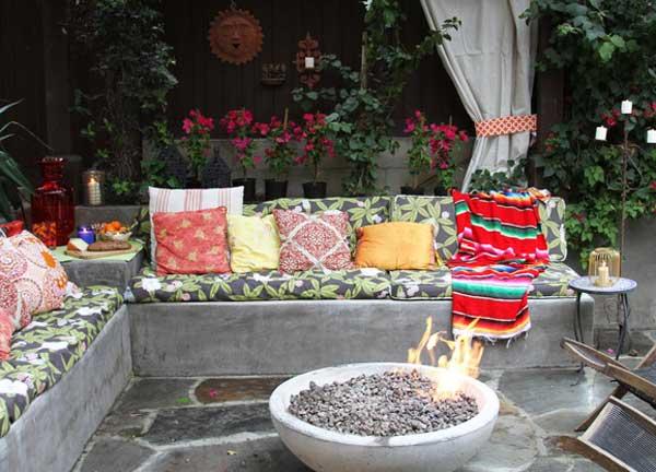Góc sân vườn đón thu đẹp dịu dàng và lãng mạn khi được trang trí theo phong cách Bohemian - Ảnh 9.