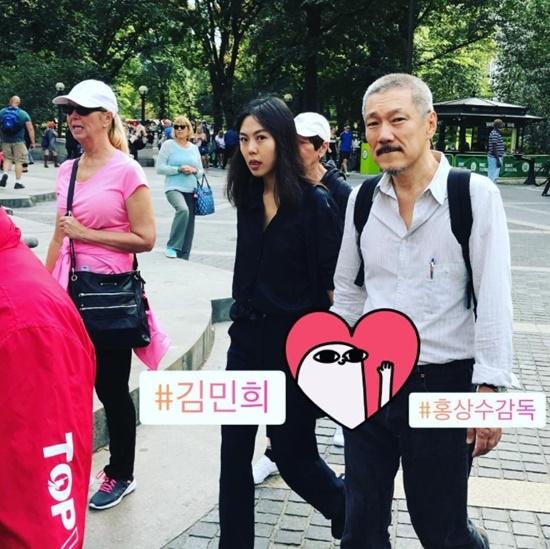 Bị tẩy chay vì scandal ngoại tình, Kim Min Hee và đạo diễn già vẫn vô tư tình tứ ở Mỹ - Ảnh 3.