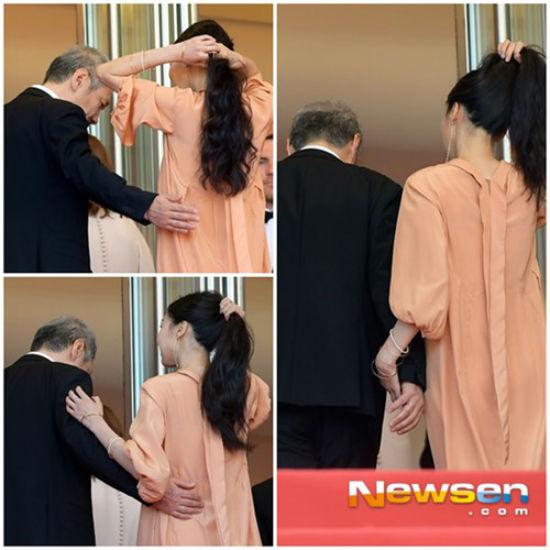 Bị tẩy chay vì scandal ngoại tình, Kim Min Hee và đạo diễn già vẫn vô tư tình tứ ở Mỹ - Ảnh 4.