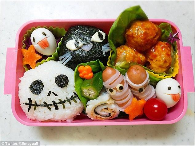 Những hộp cơm bento cho trẻ theo chủ đề Halloween vô cùng đáng yêu - Ảnh 4.