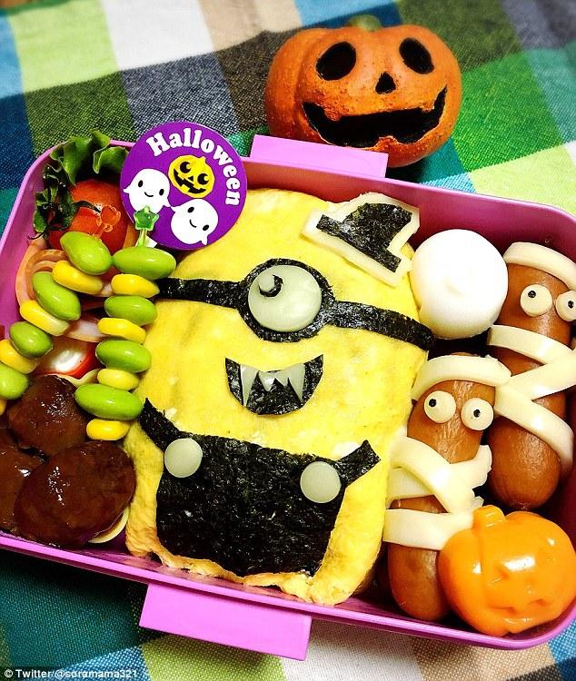 Những hộp cơm bento cho trẻ theo chủ đề Halloween vô cùng đáng yêu - Ảnh 7.