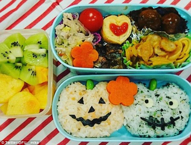 Những hộp cơm bento cho trẻ theo chủ đề Halloween vô cùng đáng yêu - Ảnh 8.