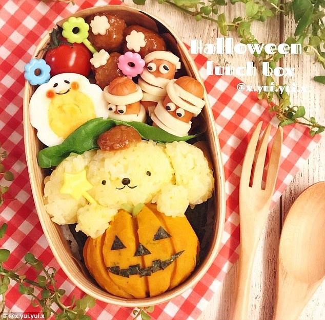 Những hộp cơm bento cho trẻ theo chủ đề Halloween vô cùng đáng yêu - Ảnh 9.
