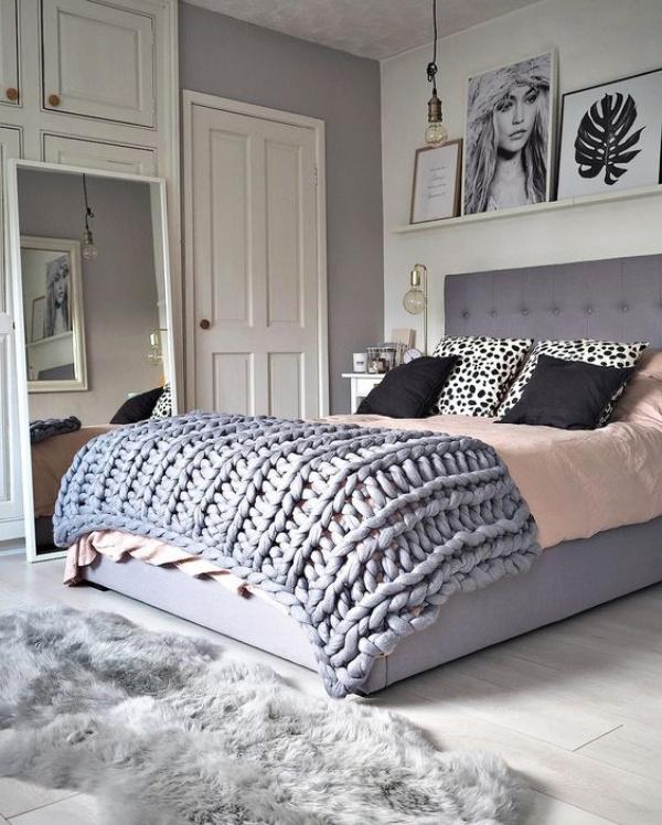 Những không gian phòng ngủ đẹp quyến rũ với gam màu xám không thể không yêu  - Ảnh 2.