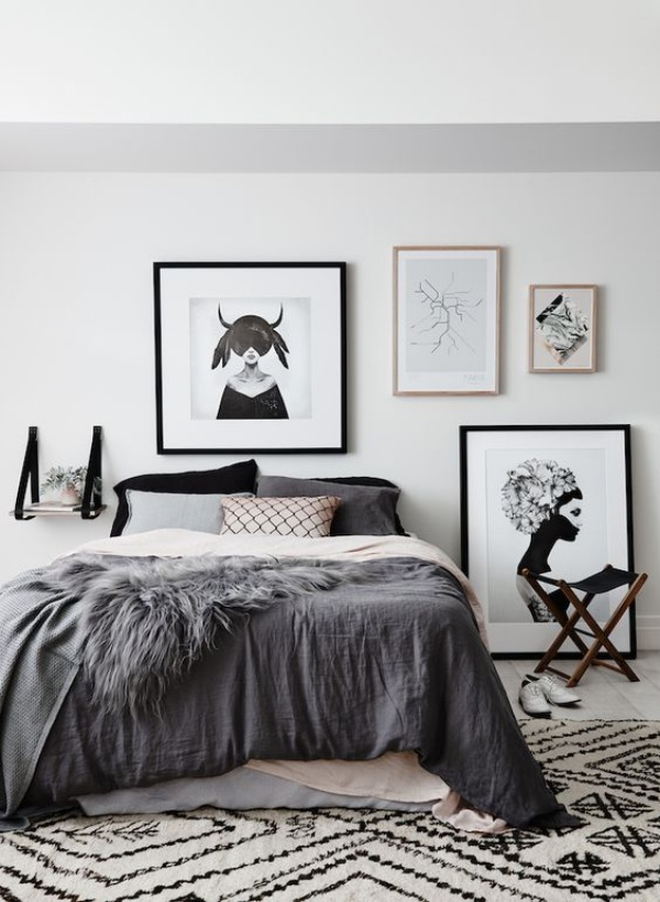 Những không gian phòng ngủ đẹp quyến rũ với gam màu xám không thể không yêu  - Ảnh 8.
