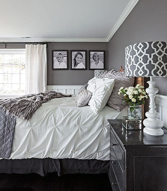 Những không gian phòng ngủ đẹp quyến rũ với gam màu xám không thể không yêu  - Ảnh 12.